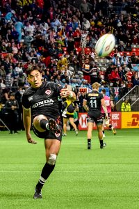 Hirayama against Wales on March 7, 2020 at BC Place