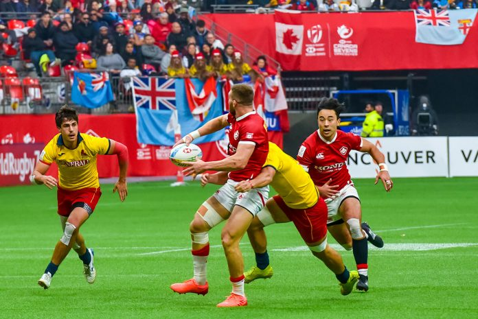Canada Sevens Day2; Canada vs Spain on March 8, 2020 at BC Place