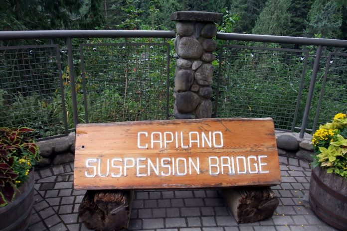 Capilano Suspension Bridge park; photo ©Vancouver Shinpo