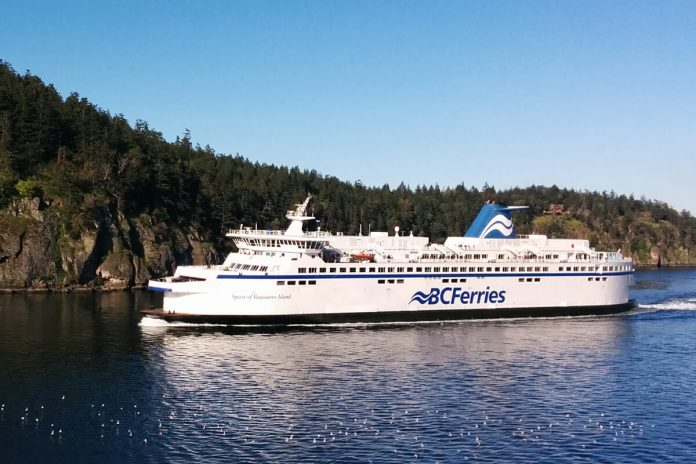BC Ferry to Victoria, British Columbia; Photo by © Vancouver Shinpo