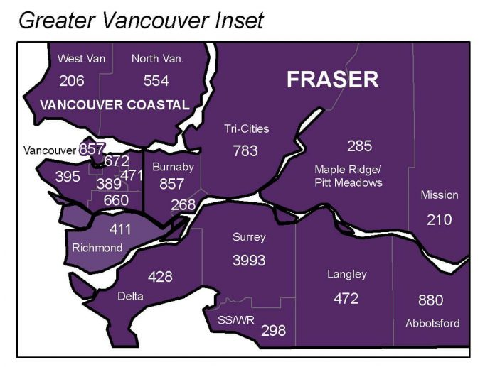Covid-19 Greater Vancouver Inset unil 10 31 2020 by BCCDC