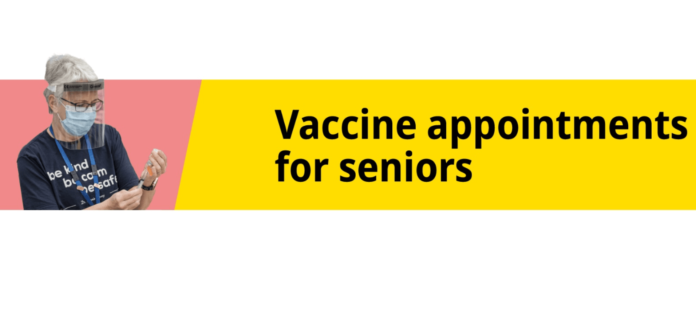 Vaccine appointments for seniors